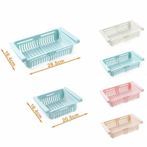Výsuvný úložný box pre chladničky (4 ks) FRIGIBOX – Vigoshop.sk